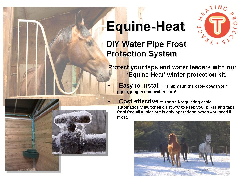 equine heat l water pipe frost protection l frost pipe protection