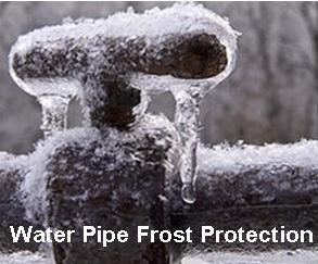 water pipe frost protection