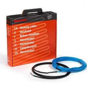 Raychem T2 Blue 10W constant wattage cable with electrically protective covering is suitable for installation directly in a levelling compound, screed or concrete. Available at www.underfloorheatingplus.com. From £76