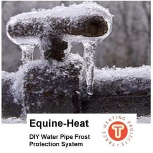 The Equine-Heat plug-in electrical pipe frost protection heater cable is an economical and energy efficient way to keep your water flowing all winter long. The electrical heating cable kit works directly from your local voltage supply, complete with an internal thermostat that detects when the temperature drops below 5?C. #pipe frost protection. Available at www.underfloorheatingplus.com from £45